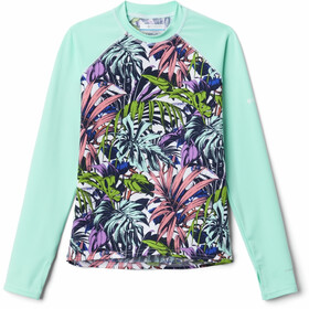 Columbia Sandy Shores Printed LS Sunguard Top Youth, turquoise/bont